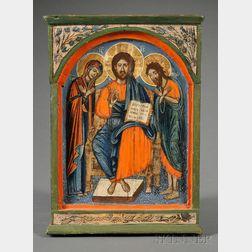 Greek Icon of the Deisis