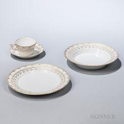 """KPM Porcelain """"Kurland"""" Pattern Partial Dinner Service"""