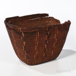 Northwest Coast Imbricated Basket
