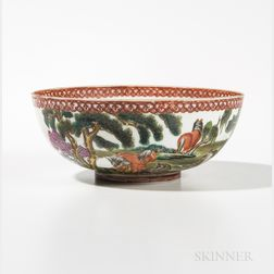 Enameled Eggshell Bowl