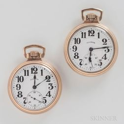 """Two Illinois """"Bunn Special"""" Open-face Watches"""