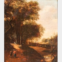 Dutch School, 17th Century Style      Travelers on a Country Road
