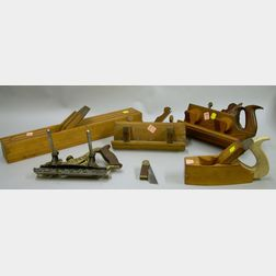 Six Woodworking Planes and Tools