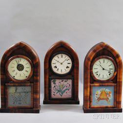 Three Connecticut Beehive Clocks