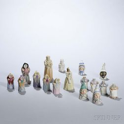 Seventeen Porcelain Candle Extinguishers
