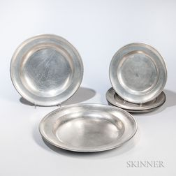 Six American Pewter Plates