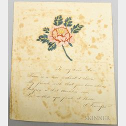 Embroidered Love Token Poem