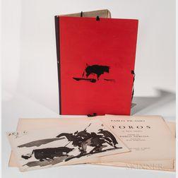 Picasso, Pablo (1881-1973) and Pablo Neruda (1904-1973) Toros 15 Lavis Inedits.