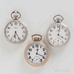"Three Ball Watch Co. ""Official Standard"" Open-face Watches"