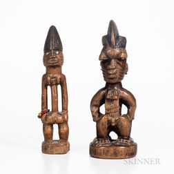 Male and Female Yoruba Ibeji Figures