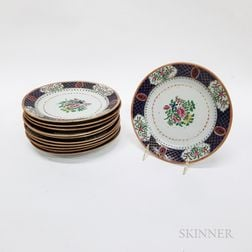 Set of Eleven Chinese Export Porcelain Plates