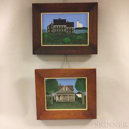 Four Framed Ted Jeremenko (New York, b. 1938) Acrylic on Canvas House Portraits