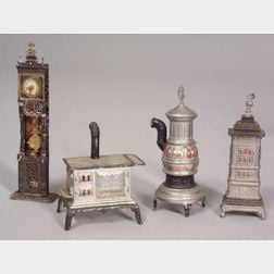 Four Soft Metal Doll House Items