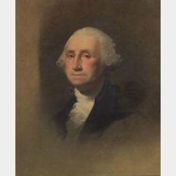 After Gilbert Charles Stuart (American, 1755 - 1828)    Portrait of George Washington.