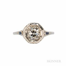 18kt White Gold and Diamond Ring