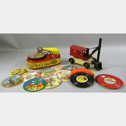Lindstrom Electric Phonograph and a Turner Tin Toy Shovel