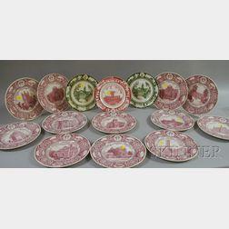 Fifteen Wedgwood New York College/University Ceramic Plates