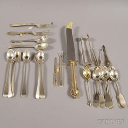 Group of Assorted Mostly Sterling and Coin Silver Flatware