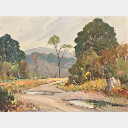 Robert Shaw Wesson (American, 1902-1967)      Country Road after a Shower