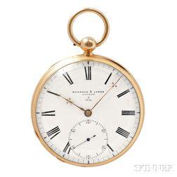 Barraud & Lunds 18kt Gold Free-sprung Watch