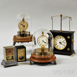 Two Yale and Three Other Clocks