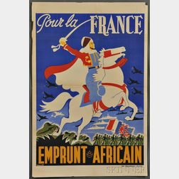 WWII, French Campaign in North Africa, Eight Posters.