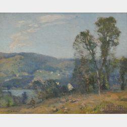 William Jurian Kaula (American, 1871-1953)      Two Vermont Landscapes: St. Johnsbury