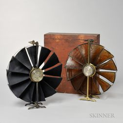 "Two John Davis & Son's ""Biram's"" Boxed Anemometer"