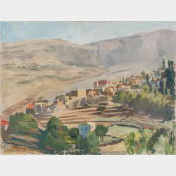 Saliba Douaihy (Lebanese, 1915-1994)      The Steppes of Lebanon