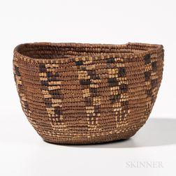 Small Northwest Coast Imbricated Basket