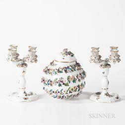 Three-piece Herend Porcelain Assembled Garniture