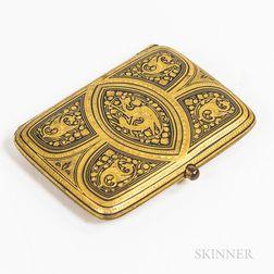 Gilt-iron/Gold Damascene Tobacco Case