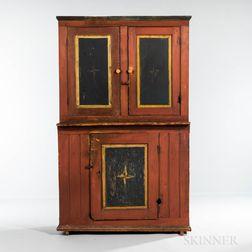 Paint-decorated Harmonist or Harmonite Cupboard