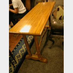 Louis XVI Style Maple Console Table.