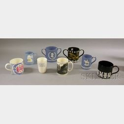 Eight Assorted Wedgwood Commemorative and Collector's Ceramic Mugs and Cups