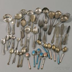 Assorted Group of Silver and Silver-plated Flatware