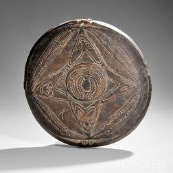 New Guinea Carved Wood Food Platter