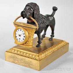 Gilt Brass and Bronze Desk Clock