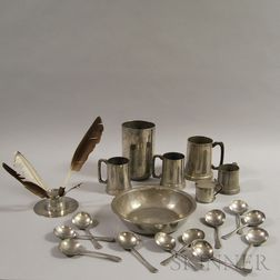 Nineteen Pieces of Pewter