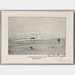 Wright, Orville (1871-1948) Signed Photo Postcard.