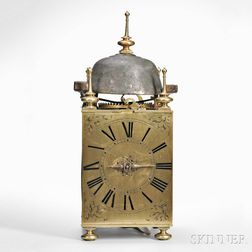 Oversize Brass and Steel Lantern Clock