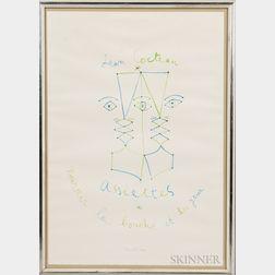 Jean Cocteau (French, 1889-1963)      Assiettes:  Nourrir la bouche et les yeux