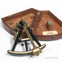 H. Hughes 9-inch Ebony and Brass Octant