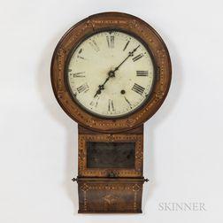 Jerome & Co. Inlaid Wall Clock