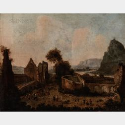 School of Emanuel Murant (Dutch, 1622-1695)      Italianate Landscape with Ruins