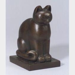Paul Fiene (German/American, 1899-1949)  Stylized Cat
