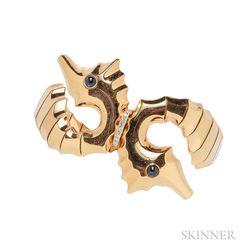 18kt Rose Gold Seahorse Bracelet