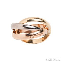 "18kt Tricolor Gold ""Trinity"" Ring, Cartier"