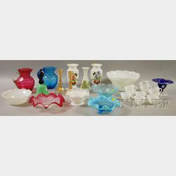 Lot of Miscellaneous Art Glass Table Items