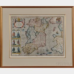 Ireland, The Kingdome of Irland .  John Speed (1552-1629) from   The Theatre of the Empire of Great Britain